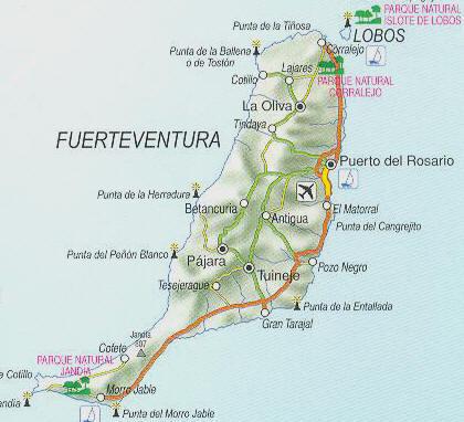 Cartina Spagna Fuerteventura.Fuerteventura Canarylike Com